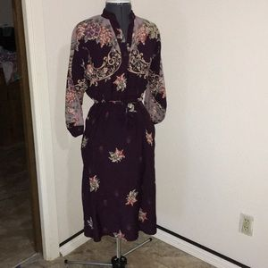 Vintage union made floral dress small/medium